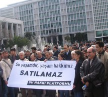 İstanbul Su Hakkı Platformu'ndan eylem
