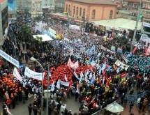 Zonguldak'ta madenciler 'Taşerona Hayır' dedi