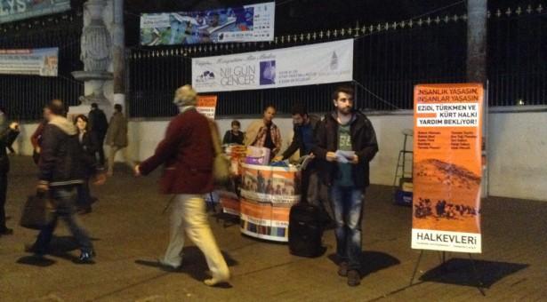 Ezidi, Türkmen ve Kürt halkıyla dayanışma için 'İnsanlık yaşasın, insanlar yaşasın' diyenler meydanlarda