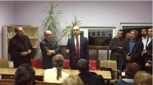 Bakırköy Belediye Başkanı işçilerin toplantısını bastı